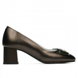 Women stylish, elegant shoes 1274 brown pearl