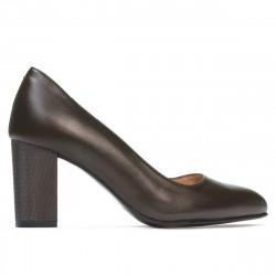 Women stylish, elegant shoes 1273 brown