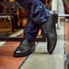 Men stylish, elegant shoes 904 black