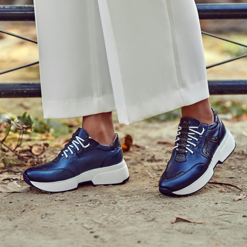 Pantofi sport dama 6019 indigo sidef combinat lifestyle