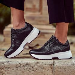 Women sport shoes 6019 black combined