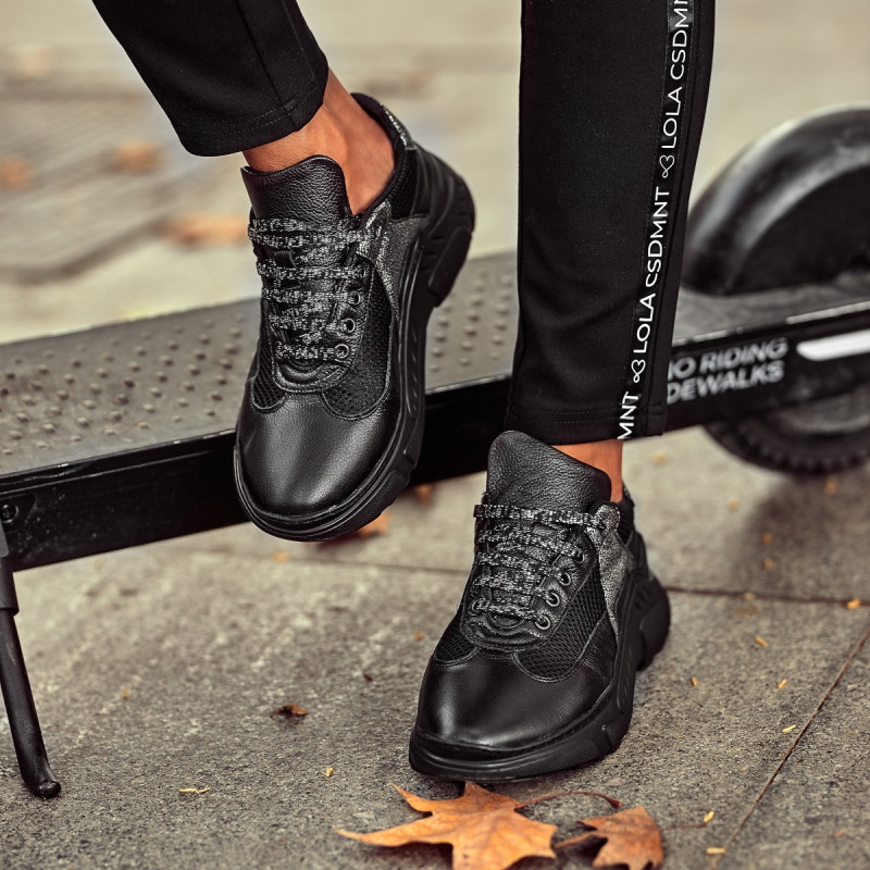 Pantofi sport dama 6015 negru combinat lifestyle