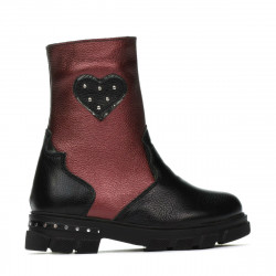 Small children boots 103c black+bordo