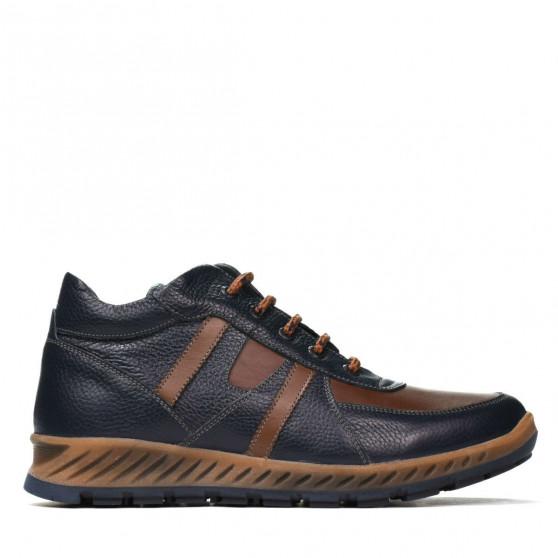 Men boots 4120 indigo+brown