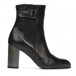 Women boots 1177 black satinat