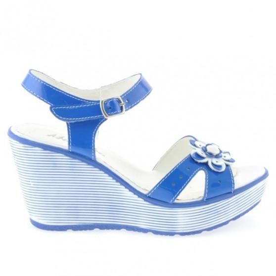 Women sandals 5006 patent blue