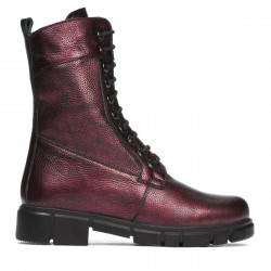 Women boots 3337-1 bordo pearl
