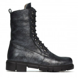 Women boots 3337-1 gray pearl