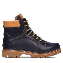 Teenagers boots 439-1 indigo+brown