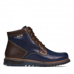 Men boots 497 indigo+brown