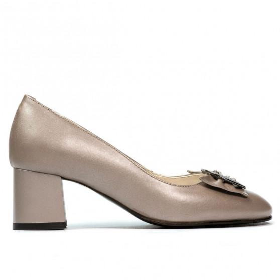 Women stylish, elegant shoes 1274 cappuccino pearl