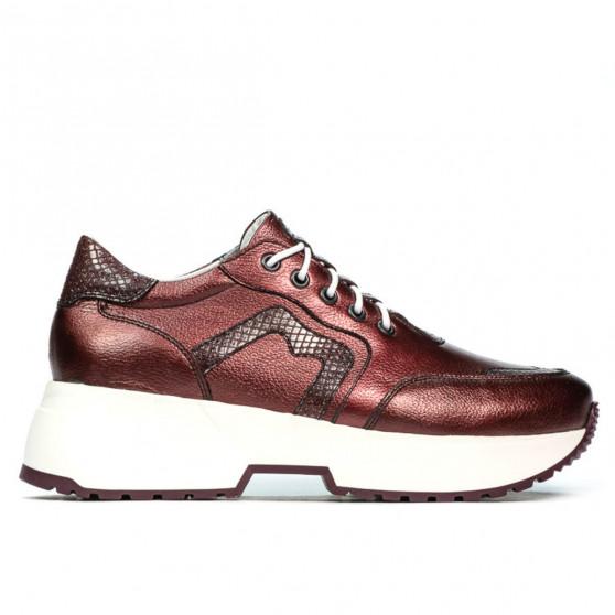 Pantofi sport dama 6019 bordo sidef combinat