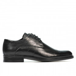Men stylish, elegant shoes 907 black