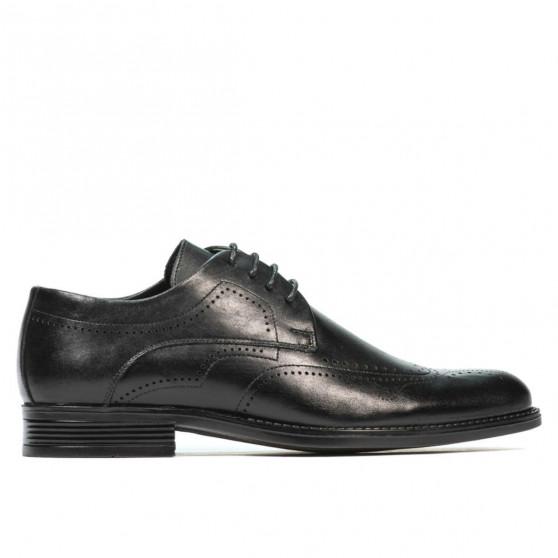 Men stylish, elegant shoes 907 black