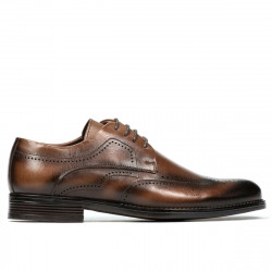 Men stylish, elegant shoes 907 a brown