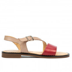 Women sandals 5070 red+pudra