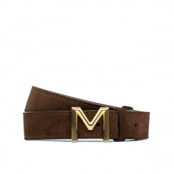 Women belt 13mc cafe velour