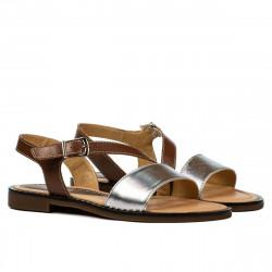 Sandale dama 5070 maro+argintiu