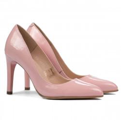 Women stylish, elegant shoes 1276 patent pink
