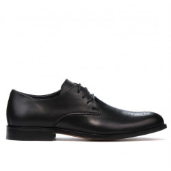 Men stylish, elegant shoes ( large size) 878m black