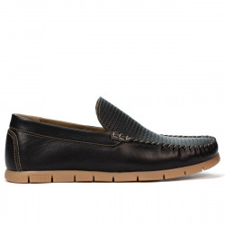 Men loafers, moccasins 912 black