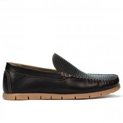 Men loafers, moccasins 912 black