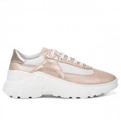 Pantofi sport dama 6015 pudra sidef combinat