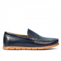 Men loafers, moccasins 912 indigo