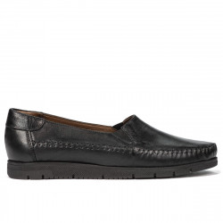 Women loafers, moccasins 6023 black