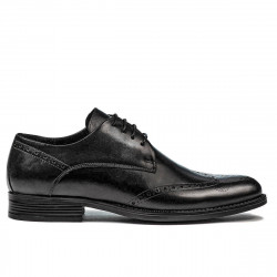 Men stylish, elegant shoes 908 black