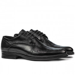 Men stylish, elegant shoes 908 black