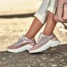 Pantofi sport dama 6015 pudra sidef combinat lifestyle