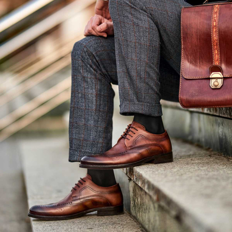 Men stylish, elegant shoes 907 a brown lifestyle