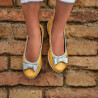 Children shoes 174 yellow pearl combined