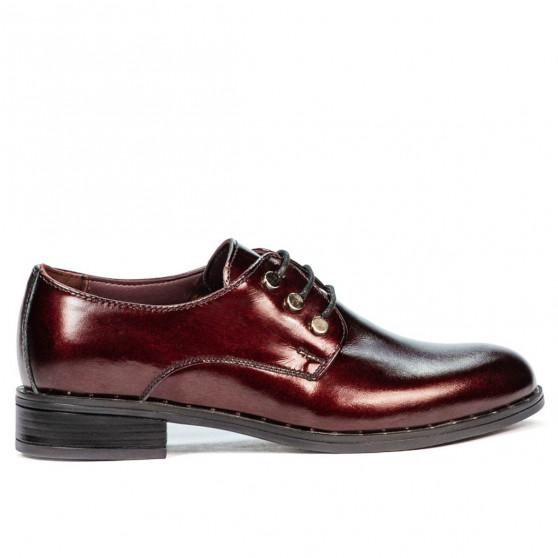 Pantofi casual dama 6020 lac bordo