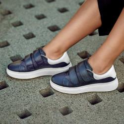 Women sport shoes 6008sc indigo+white
