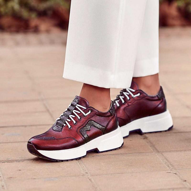 Pantofi sport dama 6019 bordo sidef combinat lifestyle