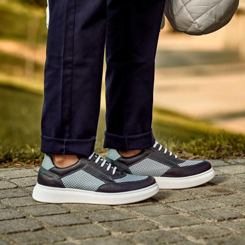Pantofi casual/sport barbati 906 gri combinat lifestyle