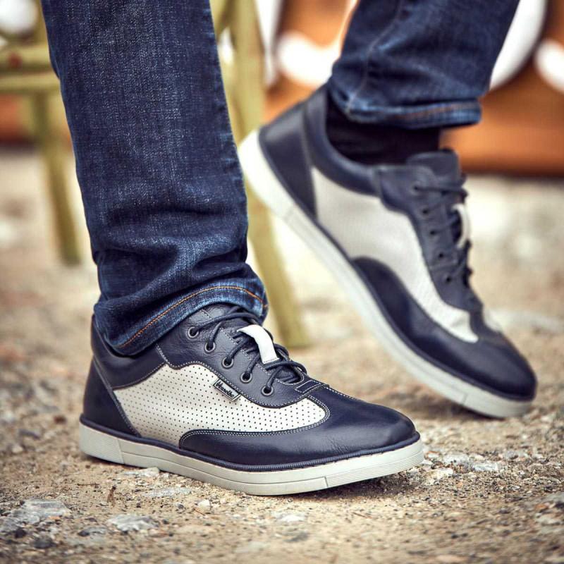 Pantofi sport barbati 886 indigo combinat lifestyle