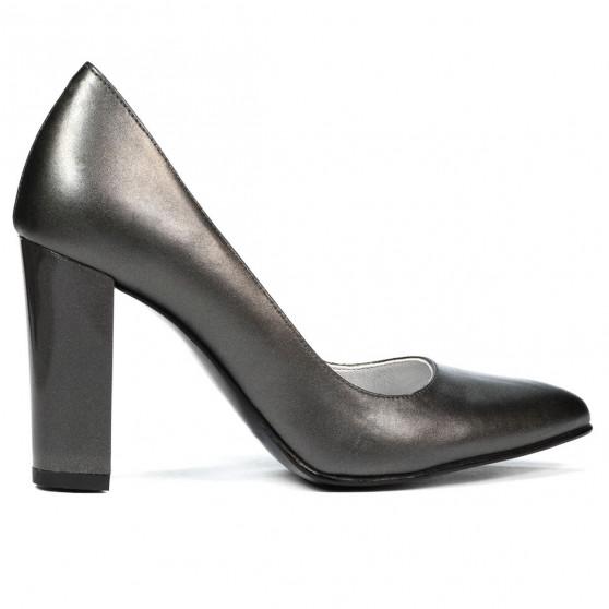 Women stylish, elegant shoes 1261 gray pearl