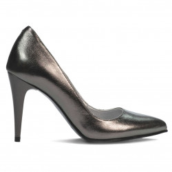 Women stylish, elegant shoes 1246 silver pearl