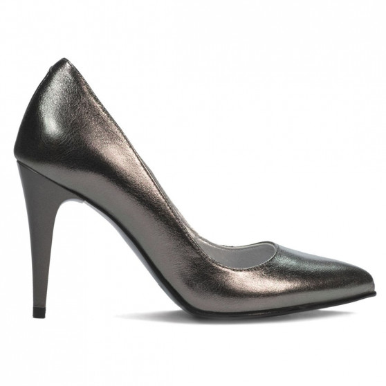 Pantofi eleganti dama 1246 argintiu sidef