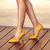 Women stylish, elegant shoes 1246 yellow