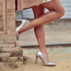 Women stylish, elegant shoes 1276 cappuccino pearl