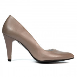 Women stylish, elegant shoes 1234 cappuccino