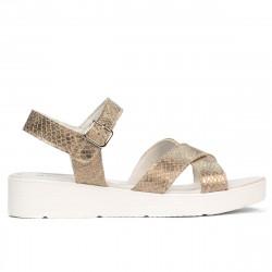 Women sandals 5049-1 piton sand