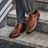 Men stylish, elegant shoes 907 a brown