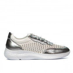 Women sport shoes 6024 silver+white