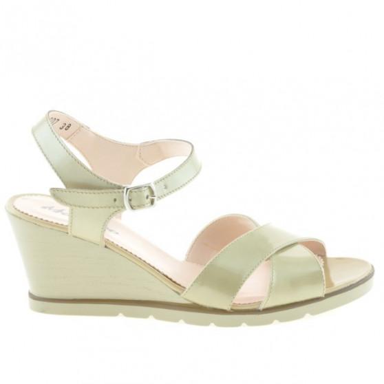 Women sandals 5007 patent beige