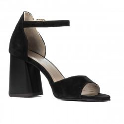 Women sandals 1280 black antilopa